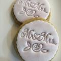 Mr & Mrs fondant embosser, wedding favour, cookie stamp