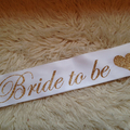 SET of 9 STUNNING high quality glitter sashes for Bridal party, guests and mums