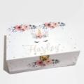 Grey & Dusty Pink Unicorn Keepsake, Baby, Jewellery, Trinket, Wooden Box