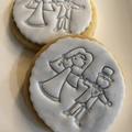 Bride Groom fondant embosser, wedding favour, cookie stamp