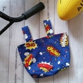 Handlebar Bag | Scooter Bag | Bike Bag | Superhero | Free Shipping
