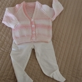 Size 0-6 months Baby Cardigan : washable, girl