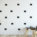 Batman Mask Wall Decal - Choose Your ColoUr, Batman Wall Decals, Batman Decals