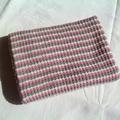 Pale Green, Pink and Cream  Australian Merino Wool Knitted Baby Pram Blanket.