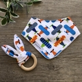 Baby Gift Set - Dribble Bib & Teether - Planes - Boy