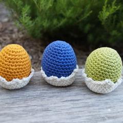 Crochet Easter eggs x 3