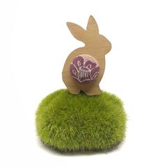 Bunny Brooch - Violet Blossom