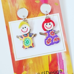 Mini Clay Kids - Dangle Earrings