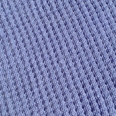 Baby Blanket - Knitted Blue Pure Australian Merino Wool.