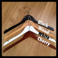 ETCHED swirl name only personalised coat hanger perfect for bridal party gifts
