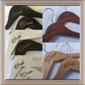 Set of 2 Mr and Mrs surname with date ETCHED couple personalised hangers