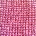 Pretty Pink Pure Australian Merino Wool Knitted Baby Pram Blanket.