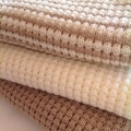 Baby Pram Blanket - Knitted Cream Pure Australian Merino Wool.