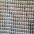 Beige and Cream Pure Australian Merino Wool Knitted Baby Pram Blanket.