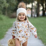 Butterscotch floral long sleeve romper