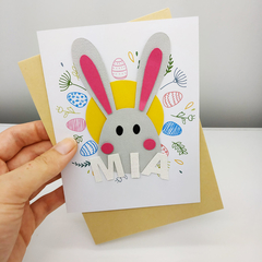 Easter Card, Easter Cards, Easter Gift, Cute Easter Card, Easter Bunny, Easter