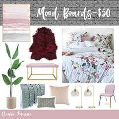 Custom Interior Design Mood board - Mothers Day Special!!