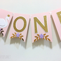 Swan Princess ONE Banner. Birthday party, baby shower, first birthday.