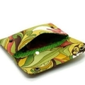 Double Snap Wallet Purse Passport Card Holder Organiser in Floral Abstract