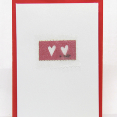 Captured Hearts Handmade Greeting Card