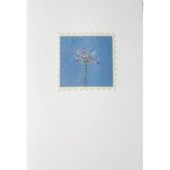 Blue Skies - Flowers greeting card
