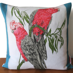 Australian Galah Birds Tea Towel Linen Cushion