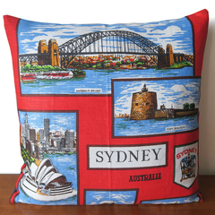 SYDNEY Australia - Linen Cushion Cover