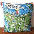 Tasmania The Holiday Island Tea Towel Cushion