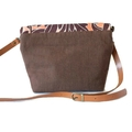 Brown Floral Shoulder Crossbody Messenger Bag Satchel with Adjustable Strap