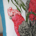 Australian Galah Birds Tea Towel Linen Cushion