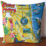 Gold Coast Queensland Tea Towel Cushion