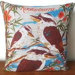 Australian Kookaburras Linen Cushion