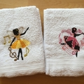 """""""Dancing Fairy"""" Embroidered Children's Towel"""