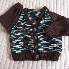 Size 2 - 3 yrs Hand knitted  washable, warm
