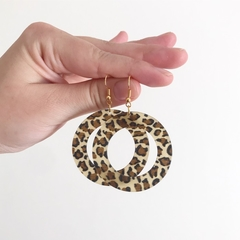Animal Print Hoops on Hooks, Dangle Earrings