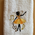 """Dancing Fairy"" Embroidered Children's Towel"
