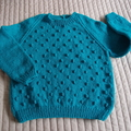 SIZE 6 + :Hand knitted jumper: Unisex, washable, OOAK