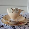 Paper Studs - White, Beige Handmade Paper - Circle