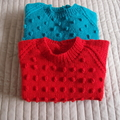 SIZE 4 -5yrs :Hand knitted jumper  : Unisex, washable, easy care