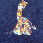 """Patchwork Giraffe'"" Embroidered Children's Towel"