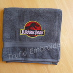 """Jurassic"" Embroidered Children's Towel"