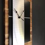 Solid Acacia Timber  and brushed aluminium Wall Clock