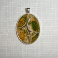 Pendant, necklace,hand painted, oval bezel