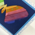 Ribbon Butterfly Blank Card