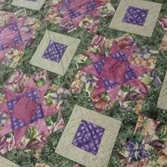 """""""Garden Maze"""" Patchwork Quilt"""