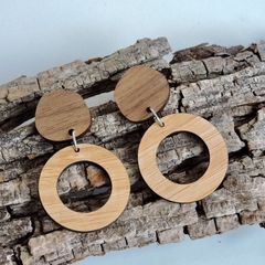 Stylish & Sustainable Bamboo & Walnut Wooden Earrings