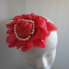 Headband rose  orange/pink