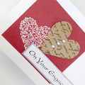 Engagement Card - Two Hearts