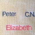 Knitted Baby Cot Blanket - Cream & Pink Pure Australian Merino Wool.