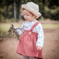 Girls Babies Rustic Cord Supender Skirt